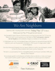 we are neighbors flyer